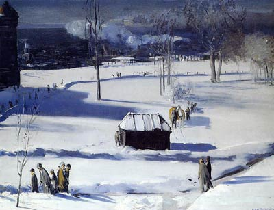 Blue Snow, the Battery by George Bellows