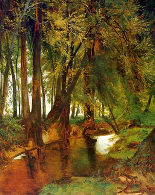 Forest with brook Karl Blechen