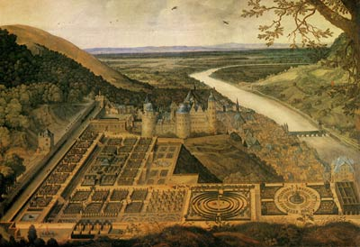 View of Hortus Palatinus by Jaques Fouequiere