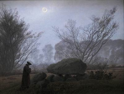 A Walk at Dusk Caspar David Friedrich