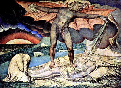 Satan Smiting Job with Sore Boils William Blake