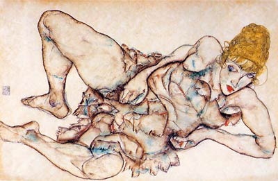 Recllining Woman with Blond Hair Egon Schiele