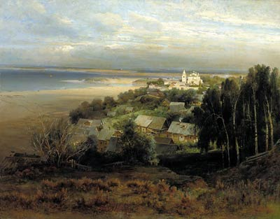 The Monastery of the Caves Near Nizhny Novgorod Alexei Savrasov