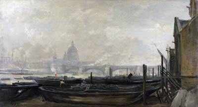 St Paul's from the Surrey Side Charles-Francois Daubigny