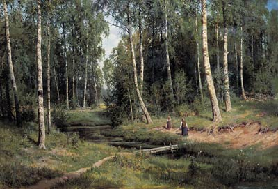 In the Birch Tree Forest Ivan Ivanovich Shishkin