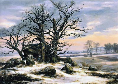 Megalith Grave in Winter Johan Christian Dahl