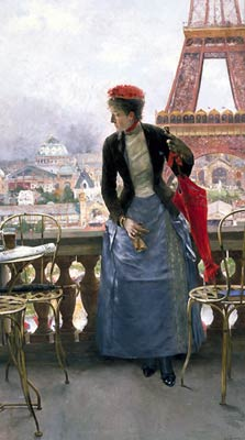 A Lady at the Paris Exposition, 1889 Luis Aranda Jimenez