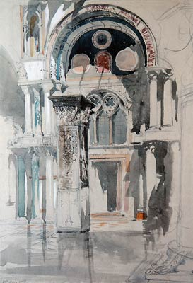 Part of Saint Mark's Basilica, Venice - Sketch after Rain John R