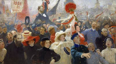 Demonstration 17 October 1905 Ilya Repin