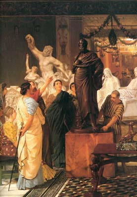 A sculpture gallery 1867, Alma Tadema Lawrence