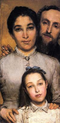 Portrait of aime jules dalou his wife and daughter 1876, Alma Ta