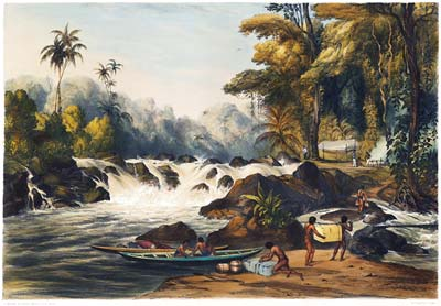 Christmas Cataract on the River Berbice, Guiana (after John Morr