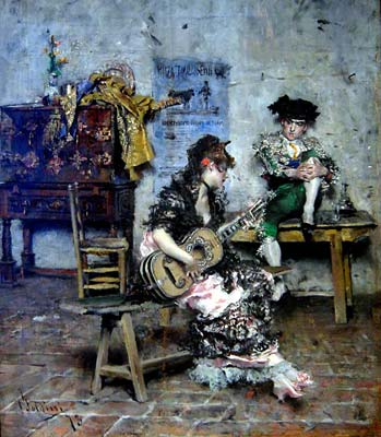A guitar player 1873