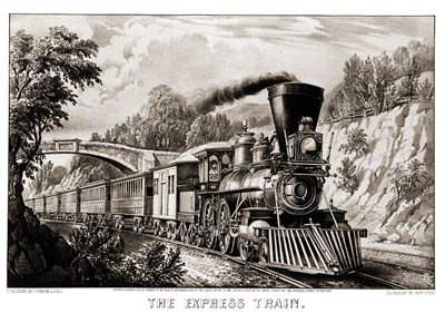 Express train art print