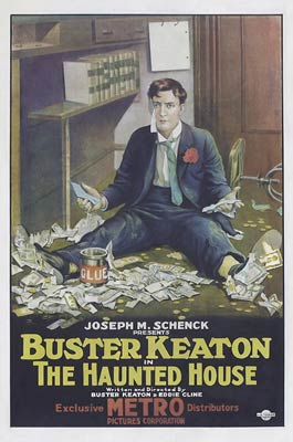 Buster Keaton film poster 1921 - The Haunted House