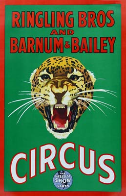 Barnum & Bailey Vintage Circus Poster