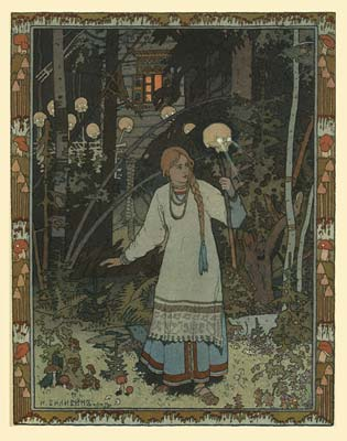 Illustration for the fairy tale vasilisa the beautiful 1900 3