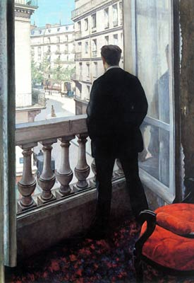A Young Man at His Window Gustave Caillebotte