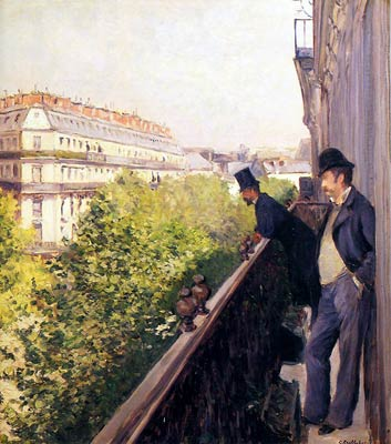 A Balcony Gustave Caillebotte