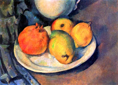 Still life with pomegranate and pears Paul Cezanne