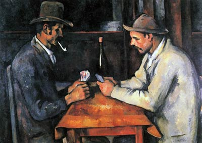 Two card players Paul Cezanne