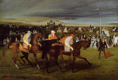 At the Races- the Start Edgar Degas