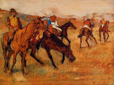 Before the Race - Edgar Degas