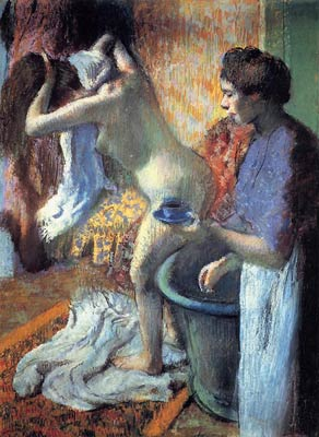 Breakfast after the Bath Edgar Degas