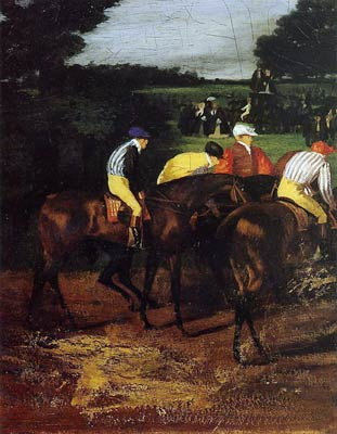 Edgar Degas- Jockeys at Epsom Edgar Degas
