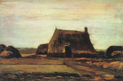 Farm with Stacks of Peat Vincent Van Gogh