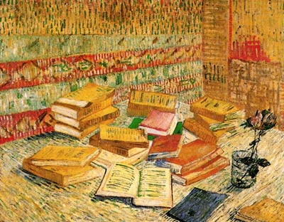 Still Life with French Novels and a Rose Vincent Van Gogh