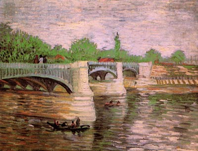 The Seine with the Pont de la Grande Jette Van Gogh