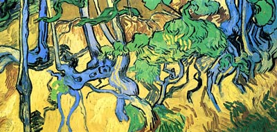 Tree Roots and Trunks 1890 Vincent Van Gogh