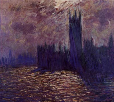 Houses of Parliament, Reflection of the Thames Monet