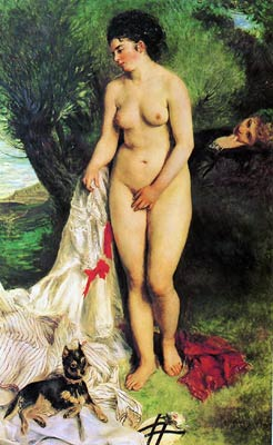 Bather with a Terrier Pierre-Auguste Renoir