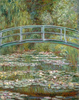 Bridge over a pond of water lilies 1899