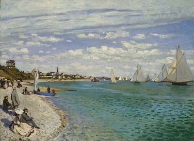 Regatta at sainte adresse 1867