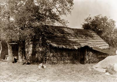 A Diegueno home, North American Indian dwelling