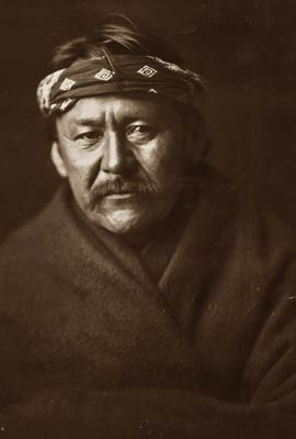 A Navajo Indian man c1904 by Edward Curtis