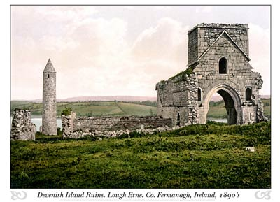 Devenish Island Ruins. Lough Erne. Co. Fermanagh, Ireland