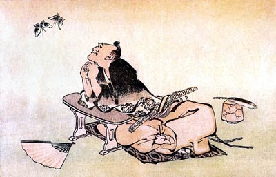 A Philosopher watching a pair of Butterflies Katsushika Hokusai