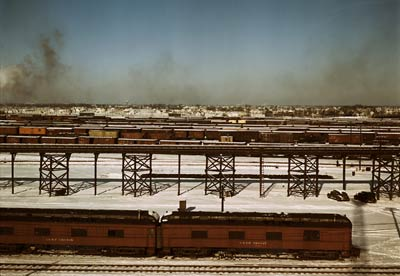 Chicago and Northwestern railroad classification yard 1942