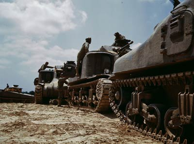 M-3 and M4 tank company, bivouac Fort Knox, Kentucky