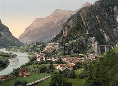 Amsteg, St. Gotthard Railway, Switzerland