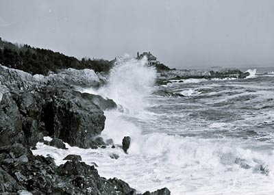 Atlantic Ocean Marblehead Neck Massachusetts Surf 1905