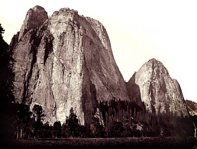 Cathedral Rock, Yosemite Valley, California, 1865