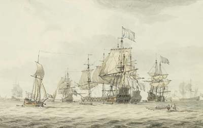 A Squadron of the Fleet making ready to sail
