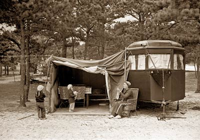Auto trailer camp, Dennis Port, Massachusetts, 1936