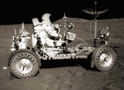 Lunar Roving Vehicle During the Apollo 15 Mission