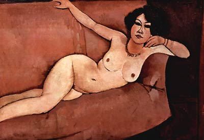 Act on a Sofa (Almaiisa) Amedeo Modigliani